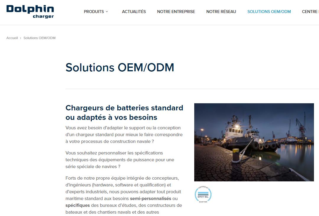 Chargeurs de batterie marine : Dolphin Charger au service des OEM !
