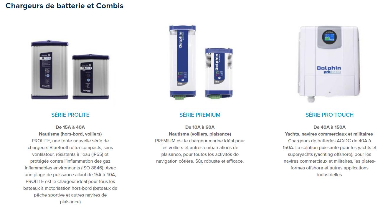 Chargeurs de batterie marine, convertisseurs, onduleurs, boosters, batteries... tous nos produits sont ici